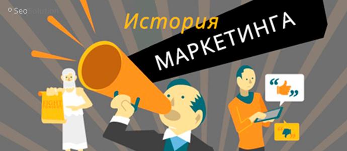Наглядная история маркетинга [инфографика]
